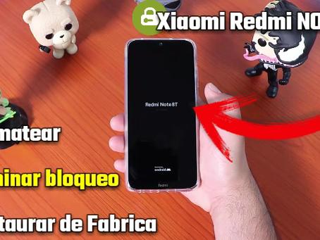 Restaurar de Fabrica Xiaomi Redmi Note 8, Note 8 Pro