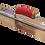 Thumbnail: Marshalltown 356mm x 127mm Permashape Golden Stainless Trowel - Durasoft Handle