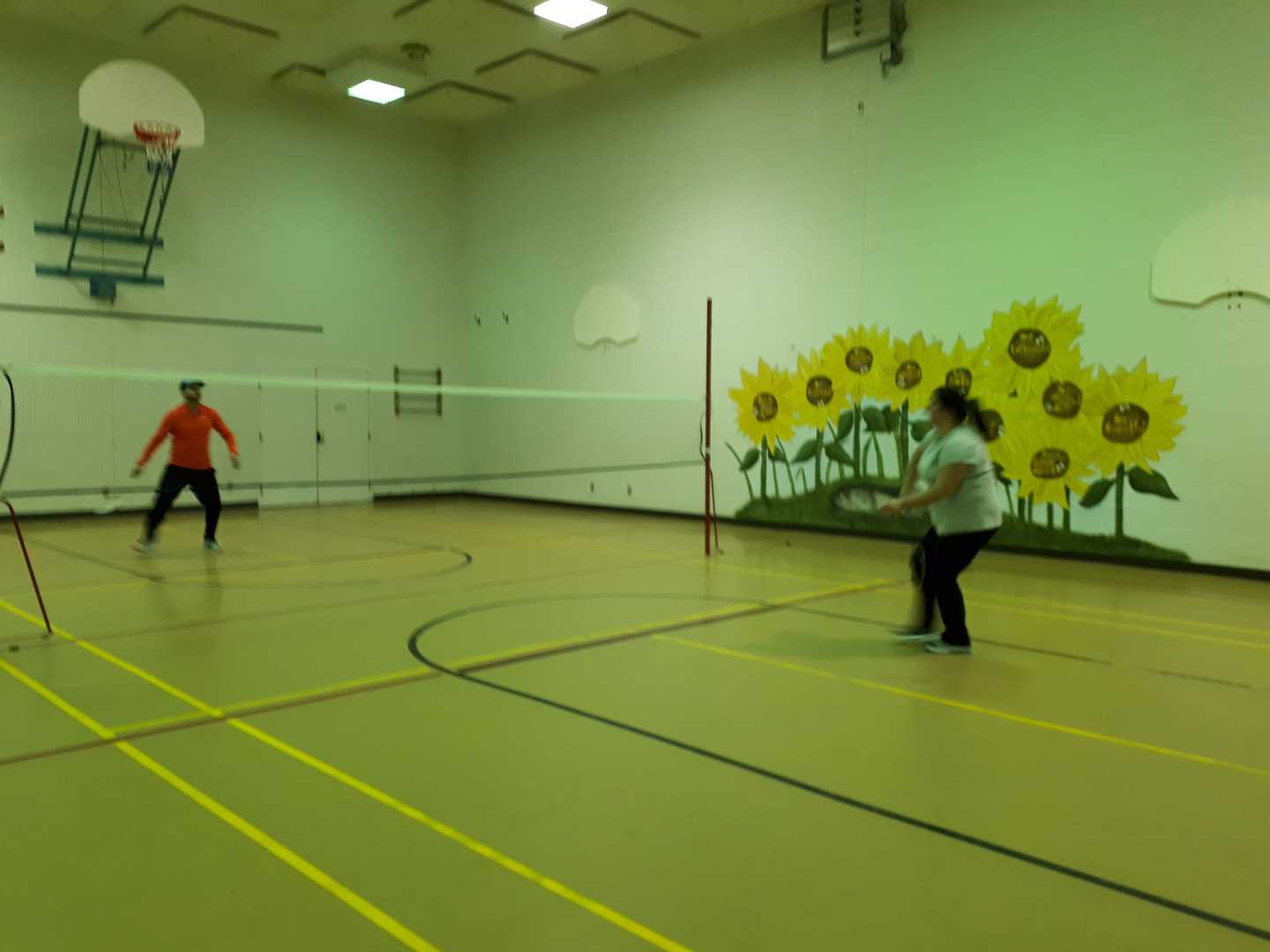 Badminton and volleyball are great fun in the gym