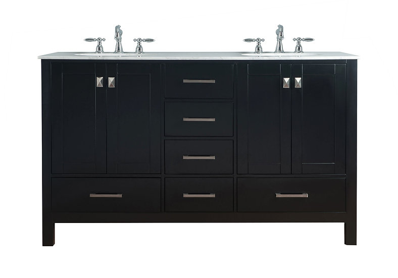 "60"" Malibu Espresso Double Sink Vanity"