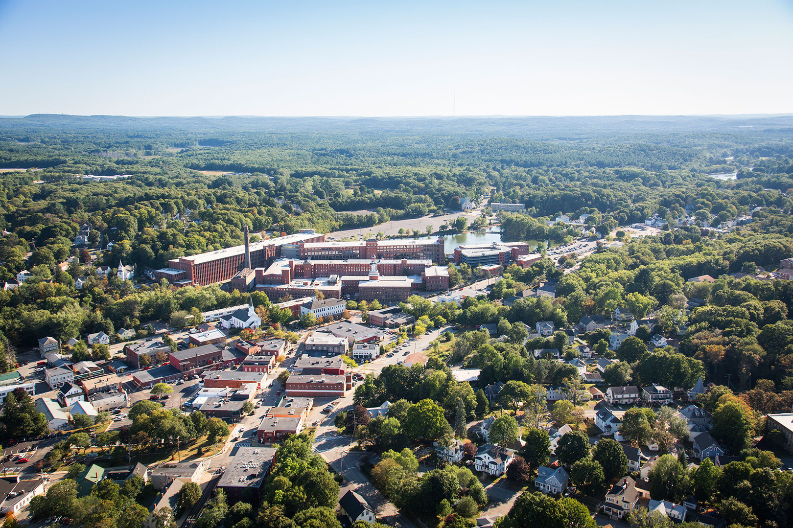 Birds Eye View of Mill & Main