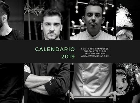 Calendario 2019 (Cocineros, Panaderos, Chocolateros Top) Segunda Edición