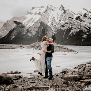 An Elopement Photo Session In The Mountains of Banff