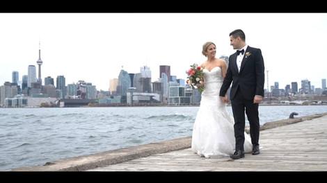 Melissa & Alex - Canoe Wedding Downtown Toronto