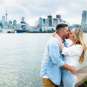 Cherry Beach & Toronto Skyline Engagement Session- Edyta & Kevin