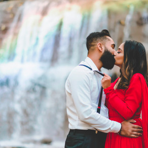 A Hamilton Waterfall Engagement Photo Session