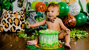 1 Year Old Cake Smash! Baby Bryson