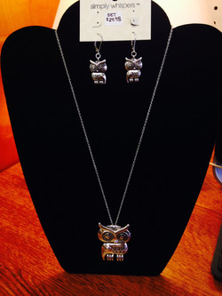 Owl earring/Necklace Set