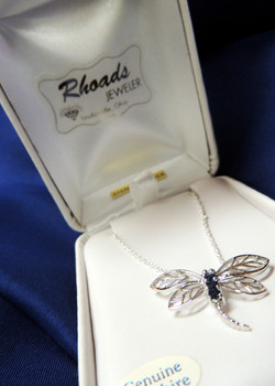 Sterling and Sapphire Pendant $56.95