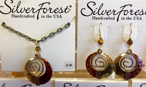 Silver Forest Necklace/Earrings