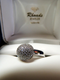 Sterling and CZ Ring $80.00