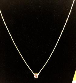 Garnet Necklace 14ky gold
