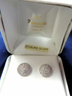 Sterling and CZ Earrings $100