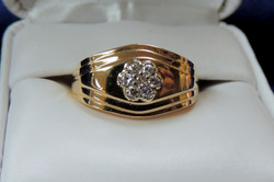 14k y gold and diamond ring $595