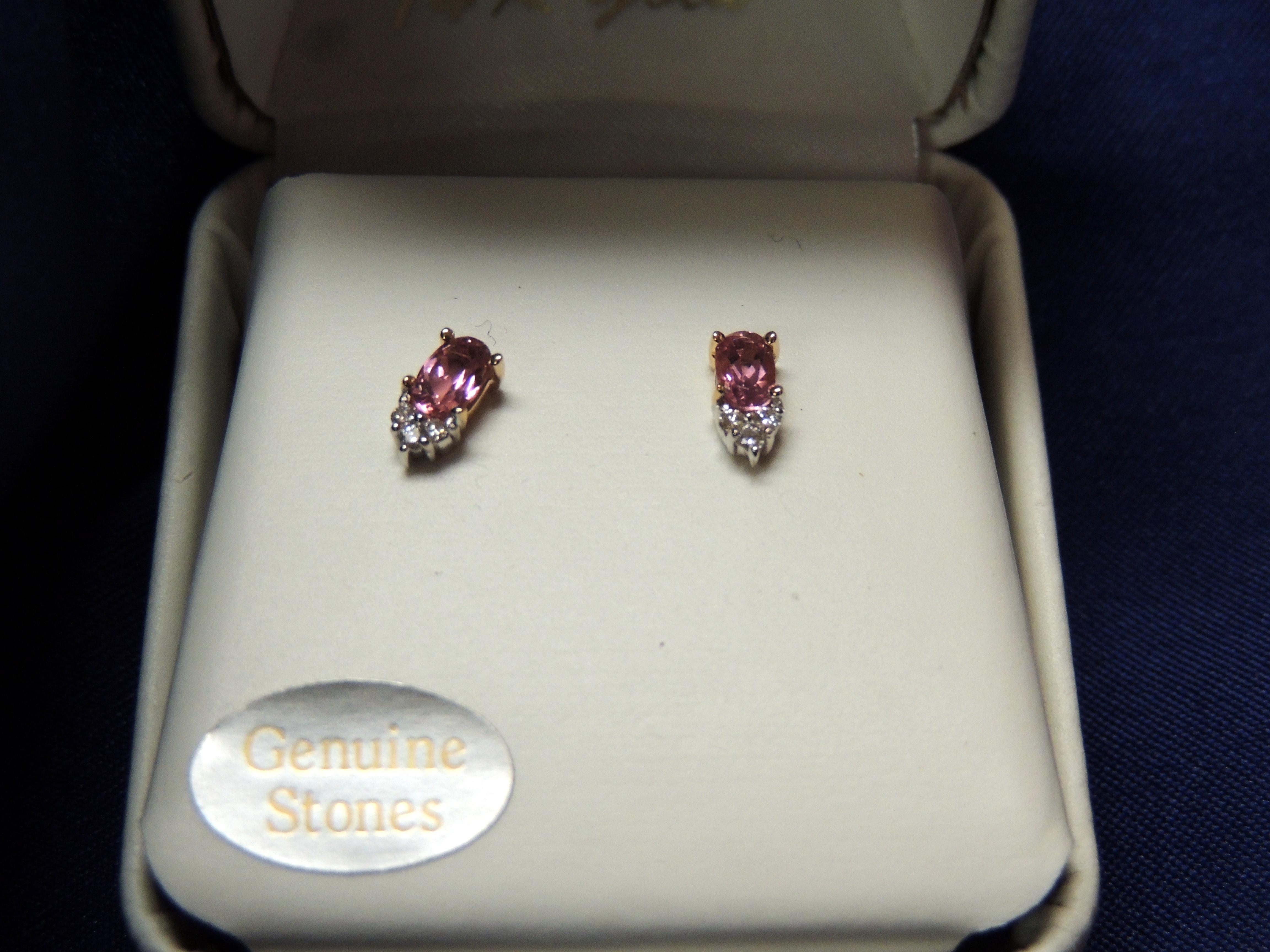 Pink Tourmaline and Dia $395