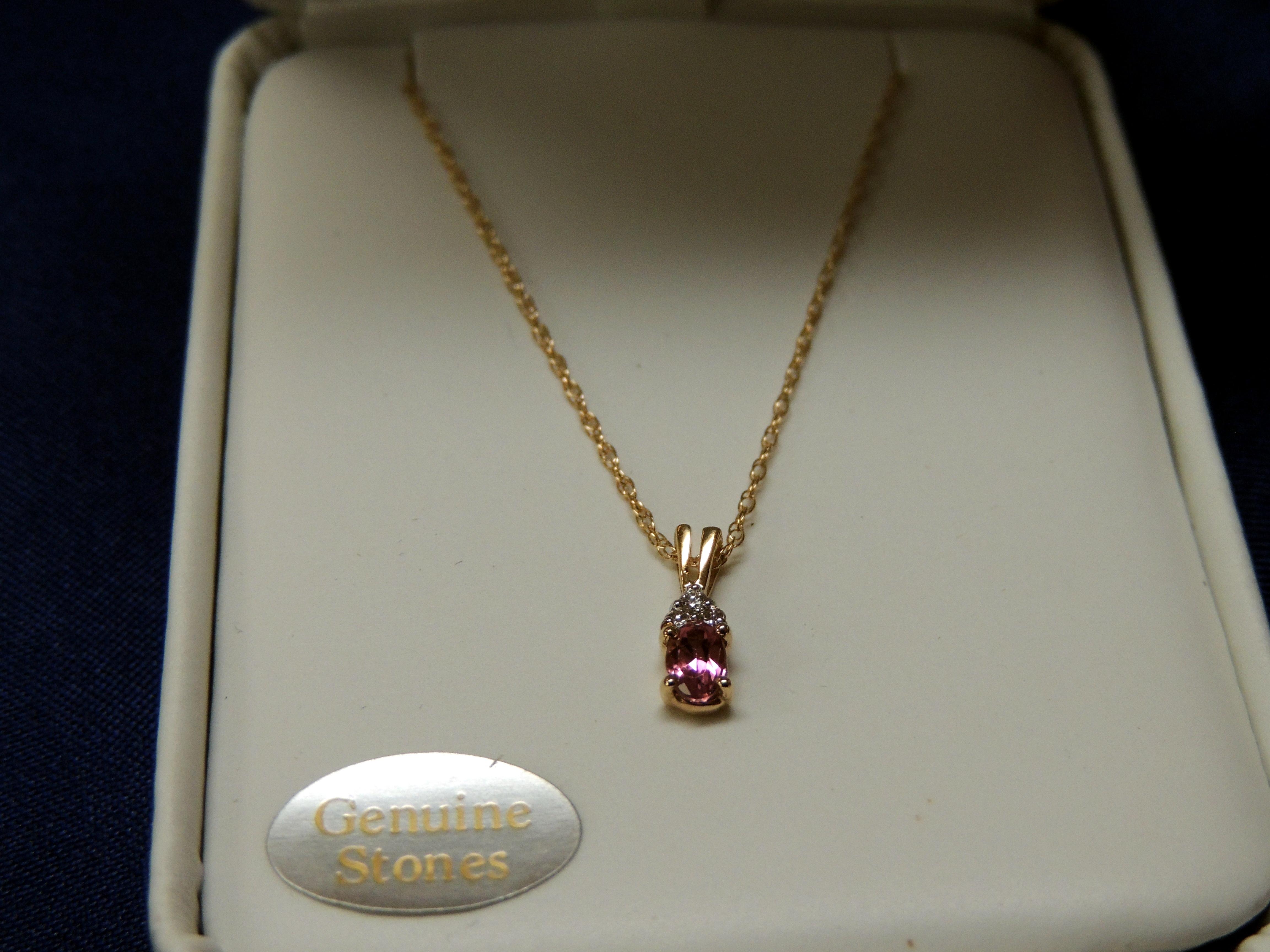 Pink Tourmaline and Dia $295