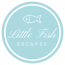 Little Fish Escapes text and fish within