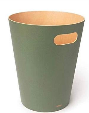 Umbra Wood Row Paper Bin