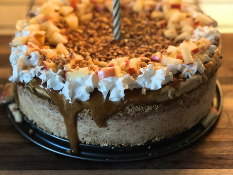 Caramel Apple Ice Cream Cake