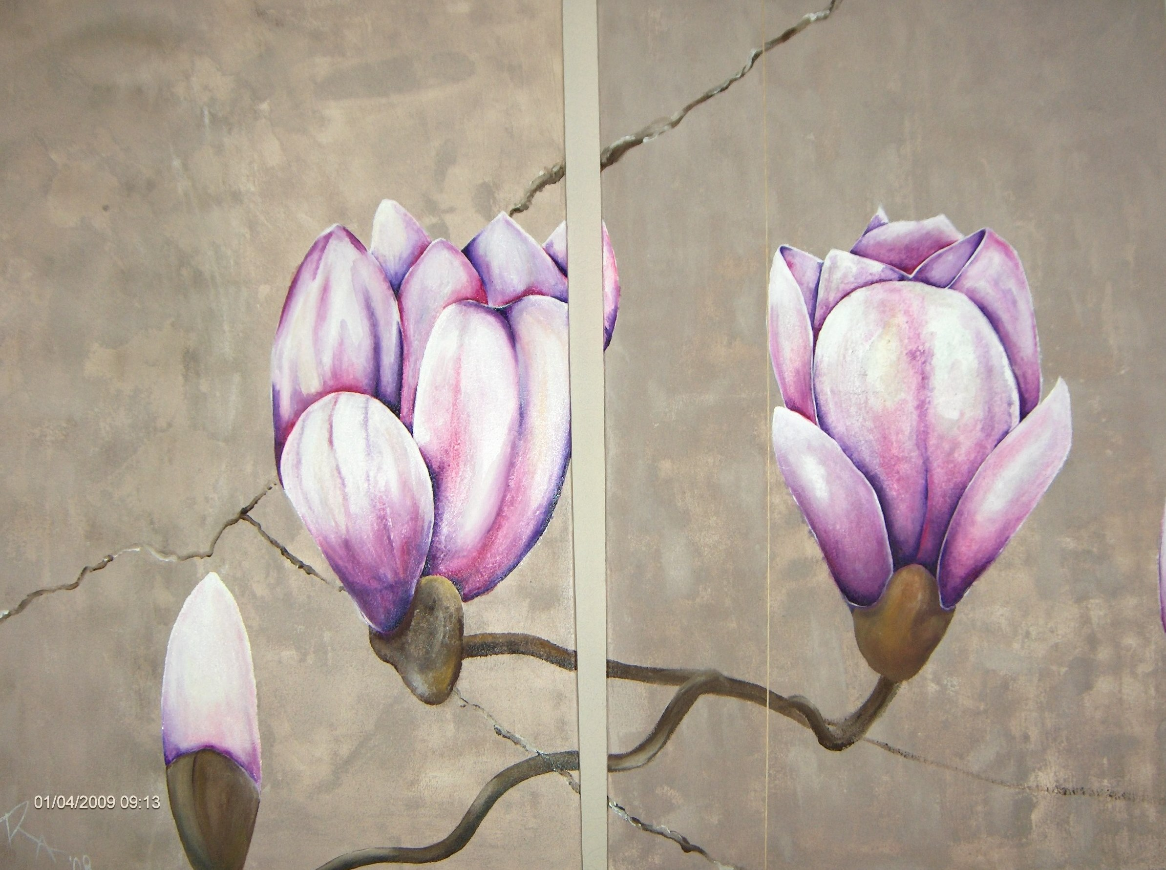 2 luik met magnolia  150 x 115-1