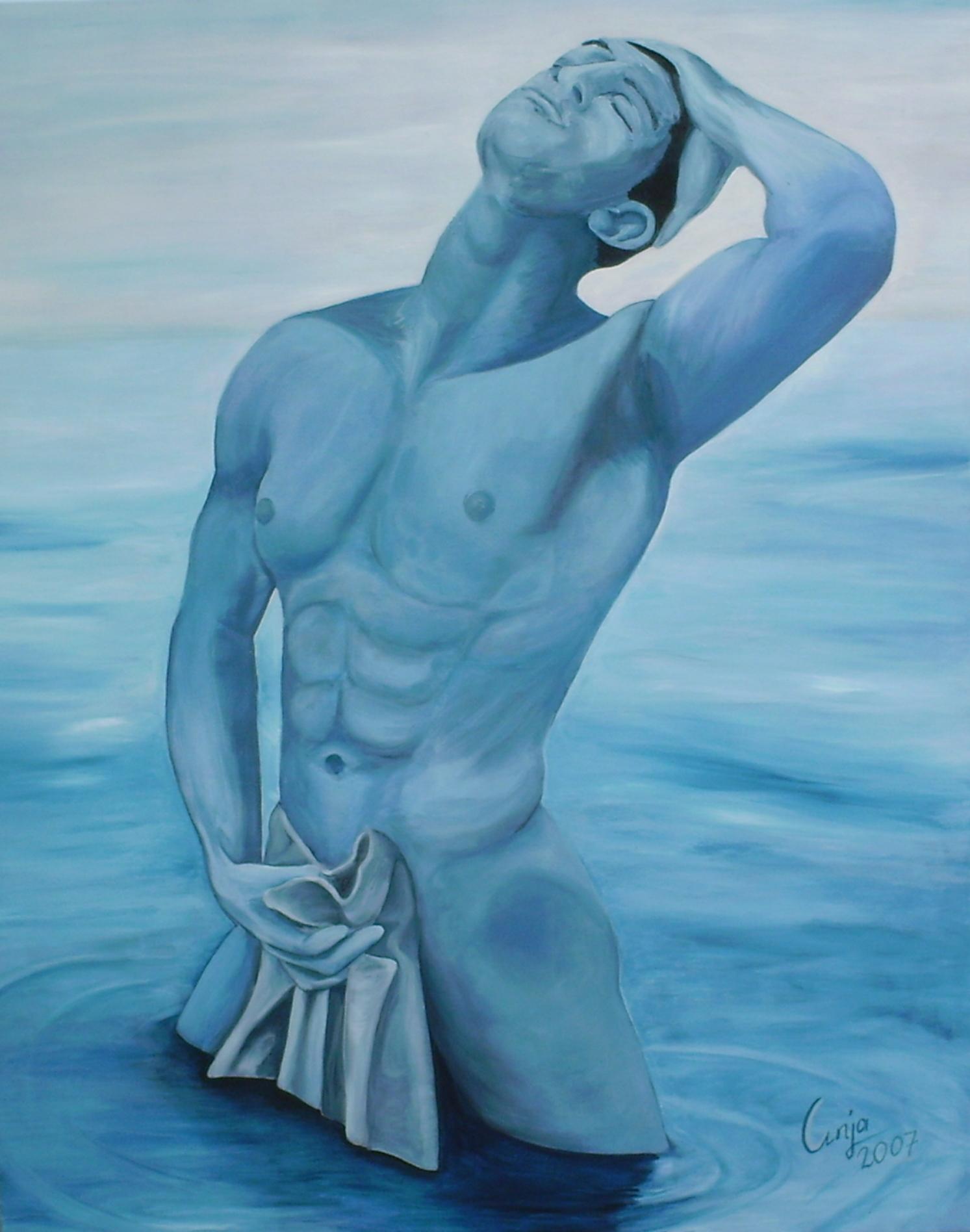 mannelijk naakt in blauw (2)