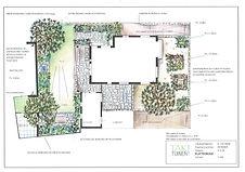 Plattegrond Voor en achtertuin met gabia