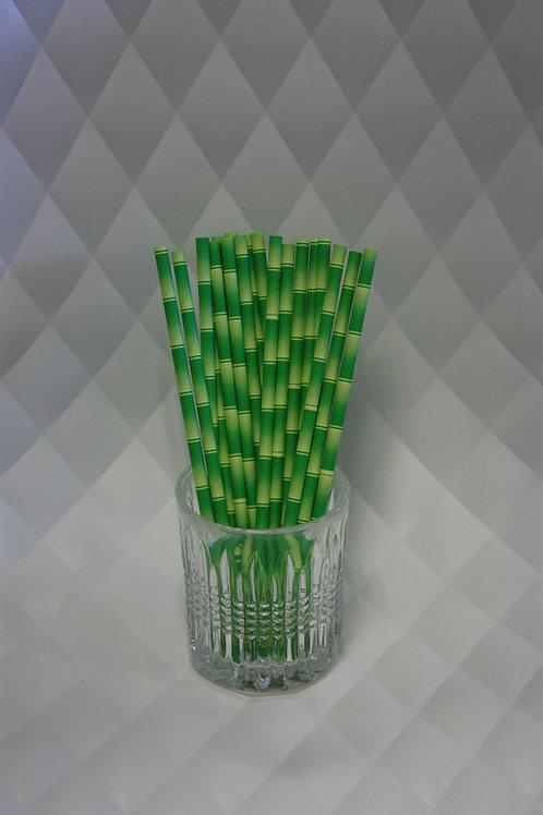 Papieren Rietjes bamboe look