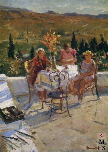 На вернаде. 1940