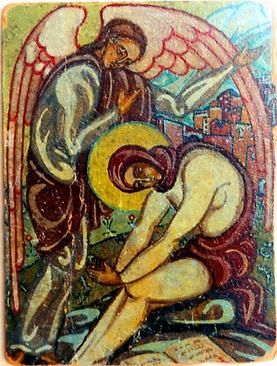 Икона прп. Марии Египетской написанная Елизаветой Скобцовой перед постригом