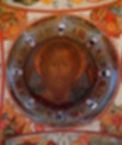 """Переславль-Залесский.  Свято-Данилов монастырь. Троицкий собор.1532.""""Господь Вседержитель"""" XVIIв."""