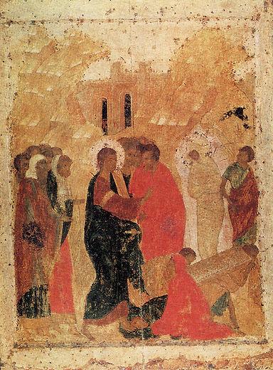 Воскрешение Лазаря. Андрей Рублев.