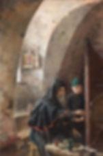 В иконописной мастерской. Древнерусский иконописец. 1894г.Головин Александр Яковлевич.