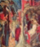 Церковь Троицы в Никитниках. Южная стена. Снятие со креста и Положение во гроб.