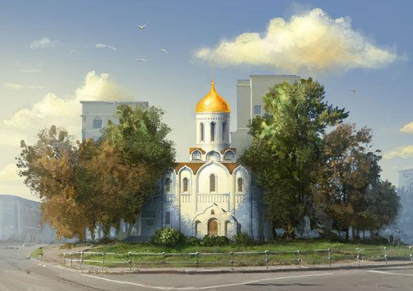 храм преподобного Андрей Рублева на Верхней Масловке