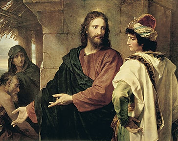 Генрих Гоффман. Христос и богатый юноша, 1889 г.