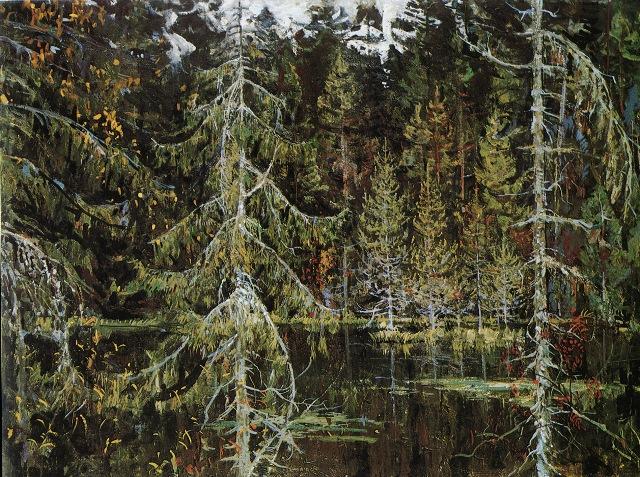 14_Лесное озеро