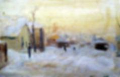 Н.Ромадин. На Масловке. 1947