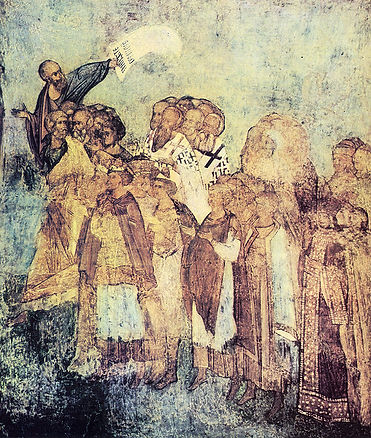 Шествие праведных в рай. Андрей Рублев.
