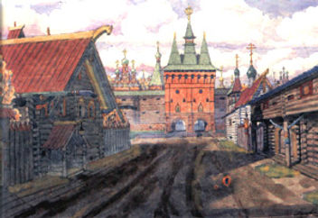 Покровские ворота Скородома. Москва, XVII век. М.Кудрявцев