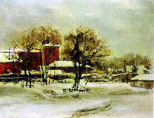 А. Морозов. Во дворе старой Масловки. 1957