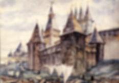 Кремль. Владычный остров. Новгород Великий. XVII век. Художник Г.Борисевич