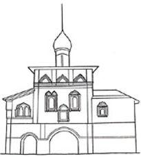 Благовещенская церковь XVI-XVII вв. в Спасо-Ефимиевском монастыре в г.Суздале