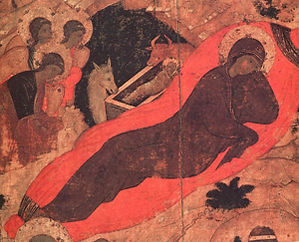 Рождество Христово. Андрей Рублев.