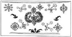 Стенная роспись полотенцами в нижней части церкви Николы Мокрого в Ярославле, XVII в