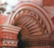 """Символ""""верви"""" в завершении западного портала  Покровского храма в Троицком соборе на Рву"""