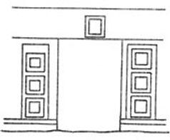 Портал на южной стороне пристройки XVII века к собору Рождества Пресвятой Богородицы в Рождественском монастыре в Москве