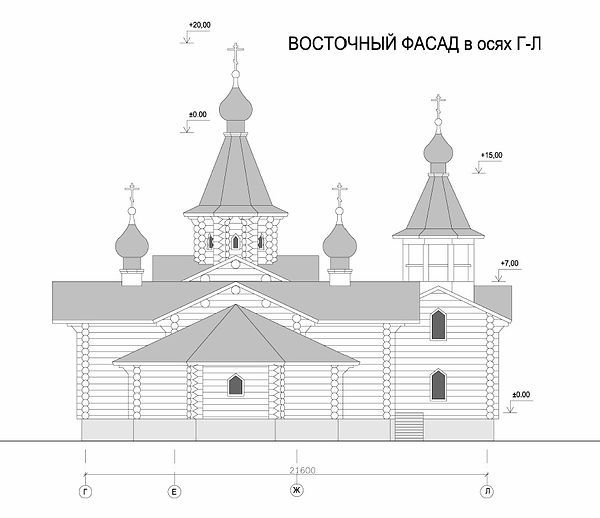 Храм прп. Андрея Рублева на Верхней Масловке. Эскиз