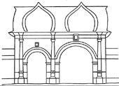 Коломенское.Задние ворота (XVII в).