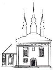 Церковь Константина и Елены,1707(Суздаль). Северная сторона.