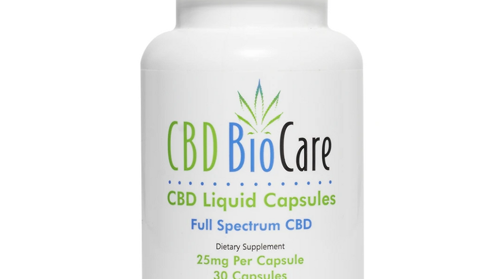 25mg CBD Liquid Capsules